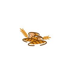 Creative bread agriculture grain logo vector