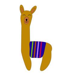 cute cartoon llama design with no prob vector image