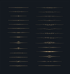 dividers set set of calligraphic design elements vector image