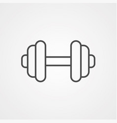 dumbbell icon sign symbol vector image
