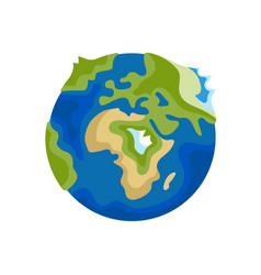 earth icon on white background vector image