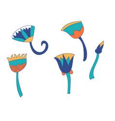 Egypt color cane branches set ornamental element vector