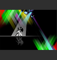eps 10 dance pole on black background vector image