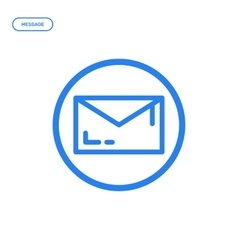 Flat line letter icon vector