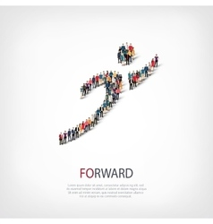 forward people crowd vector image