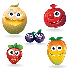 Fruit Cartoons vector image