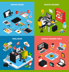 graphic design 2x2 concept vector image