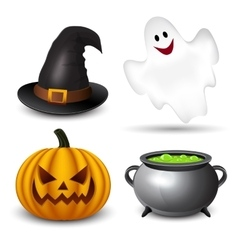 Halloween icons-set vector