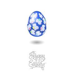 happy easter card egg teddy bear pattern vector image