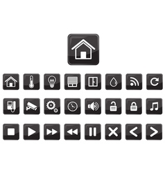 Home automation smart icon set vector