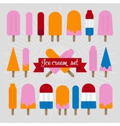 Icecream popsicle set vector image