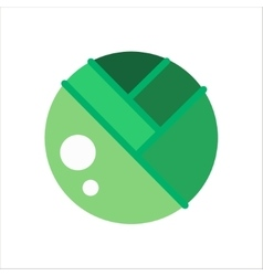 Icon Yummy green cabbage vegetable in Flat style vector image