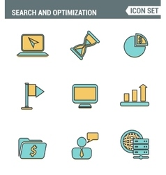 Icons line set premium quality of website vector image