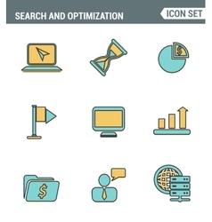 icons line set premium quality website vector image