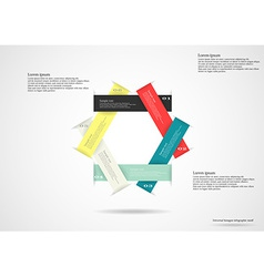 Infographic consists of six separate ribbons vector