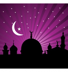 Islamic greeting card vector
