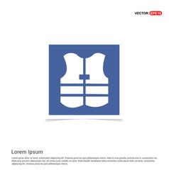 Life jacket - blue photo frame vector