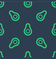 Line avocado fruit icon isolated seamless pattern vector