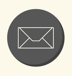 mail envelope round linear icon with the vector image