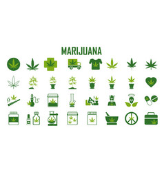 marijuana cannabis leaf weed medical drug vector image