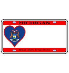 Michigan license plate vector
