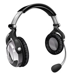 microphone headset vector image