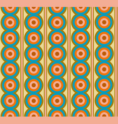 Midcentury inspired style seamless pattern vector