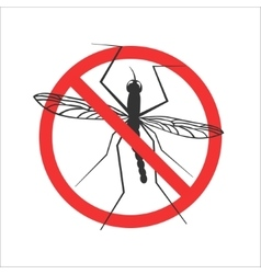 mosquito stop symbol or sign vector image