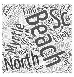 North myrtle beach sc word cloud concept vector
