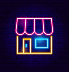 online shopping neon sign vector image