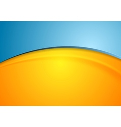 Orange and blue shiny waves background vector