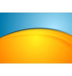 Orange and blue shiny waves background vector