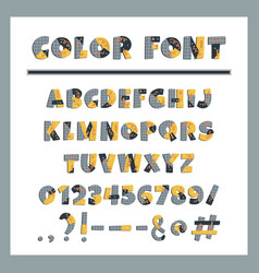 paper cut colorful alphabet vector image
