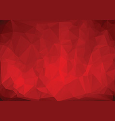 polygonal red background vector image