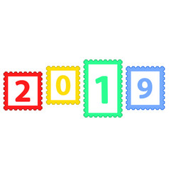 postage stamps 2019 vector image