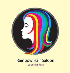 Rainbow saloon logo design vector image