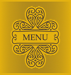 Retro card for menu or for decoration vector