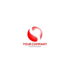S shine sun logo design vector