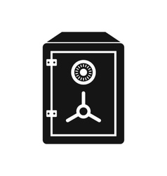 Safe icon in simple style vector image