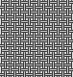 Seamless black white weave pattern vector