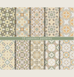 Set of seamless pattern vector