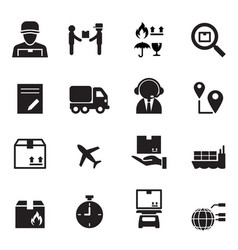Shipping logistics icons set vector
