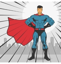 Super Action Hero Stand vector image