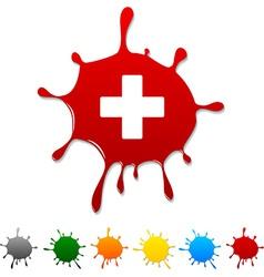 Switzerland blot vector image