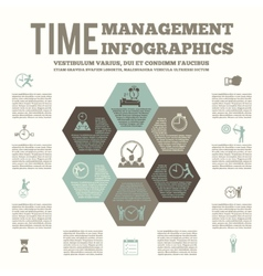 Time management infografic poster vector