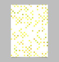 yellow abstract circle pattern brochure vector image
