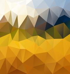 Yellow orange polygon triangular pattern vector