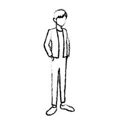 young avatar man people standing vector image