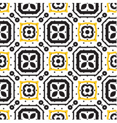 black and white mediterranean seamless ceramic vector image