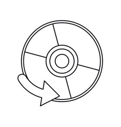 compact disk digital game thin line vector image